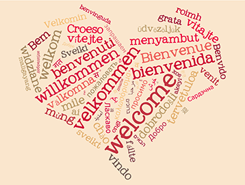 wordcloud welcome heart 196390